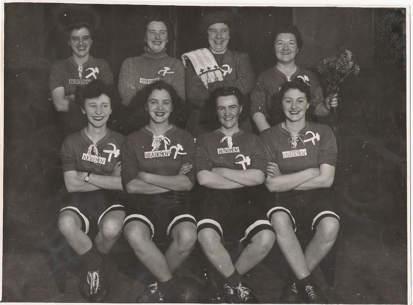 Margaret Taylor, nee Ritchie, front row second from left