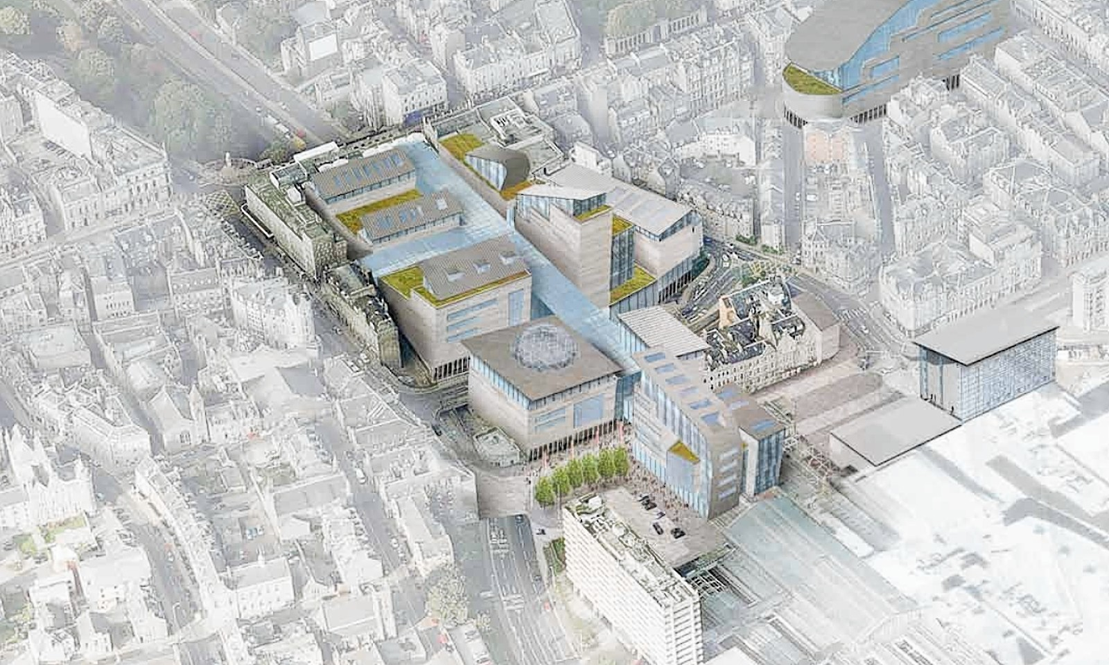 The masterplan reveals the vision for the land around the train and bus stations up to Union Street