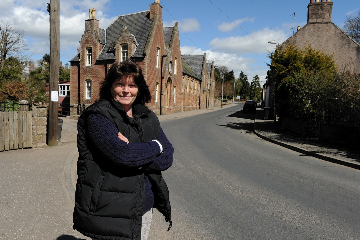 Mearns community councillor Shirley Castles in Auchenblae. Picture by Colin Rennie