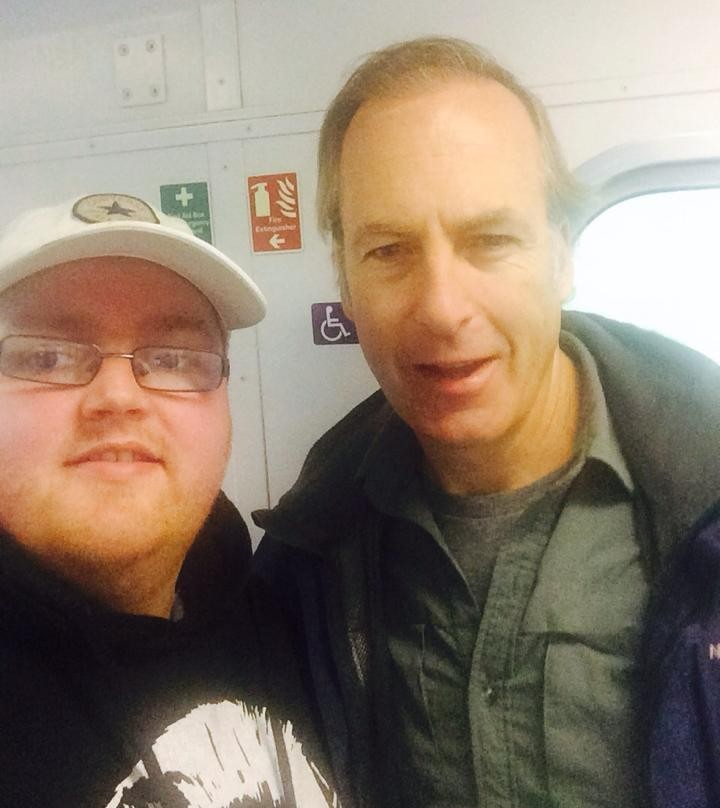 The actor was spotted on board a train to Mallaig