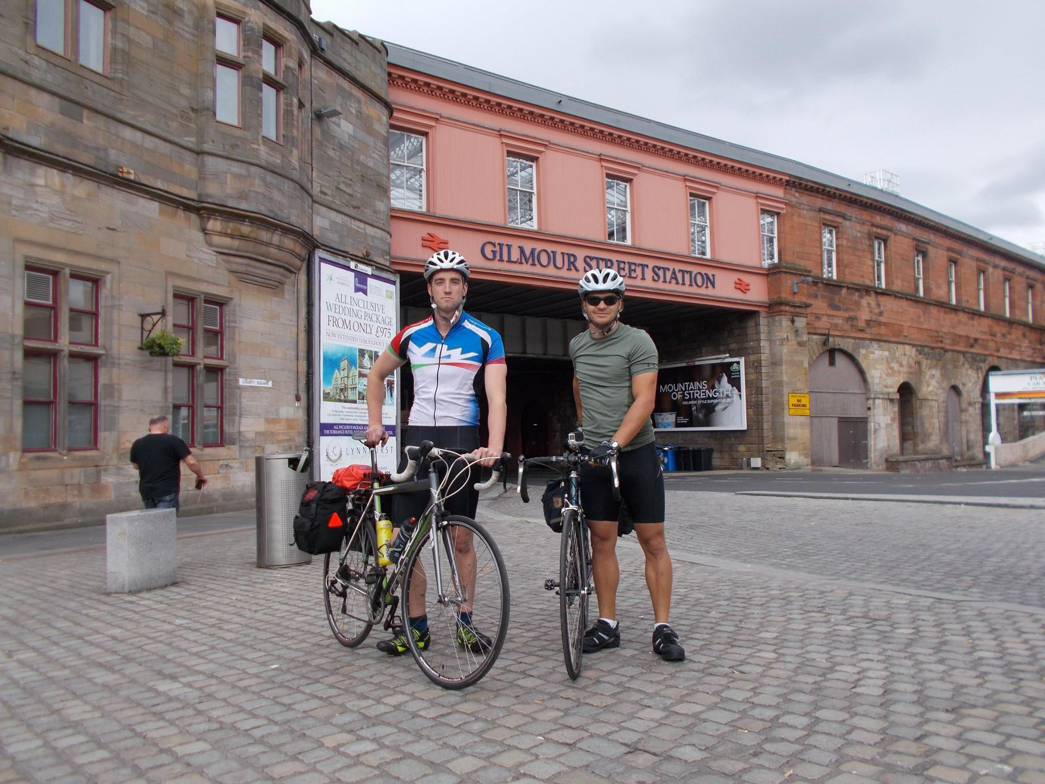 tom Robertson and John Grose began their journey in Paisley earlier this week