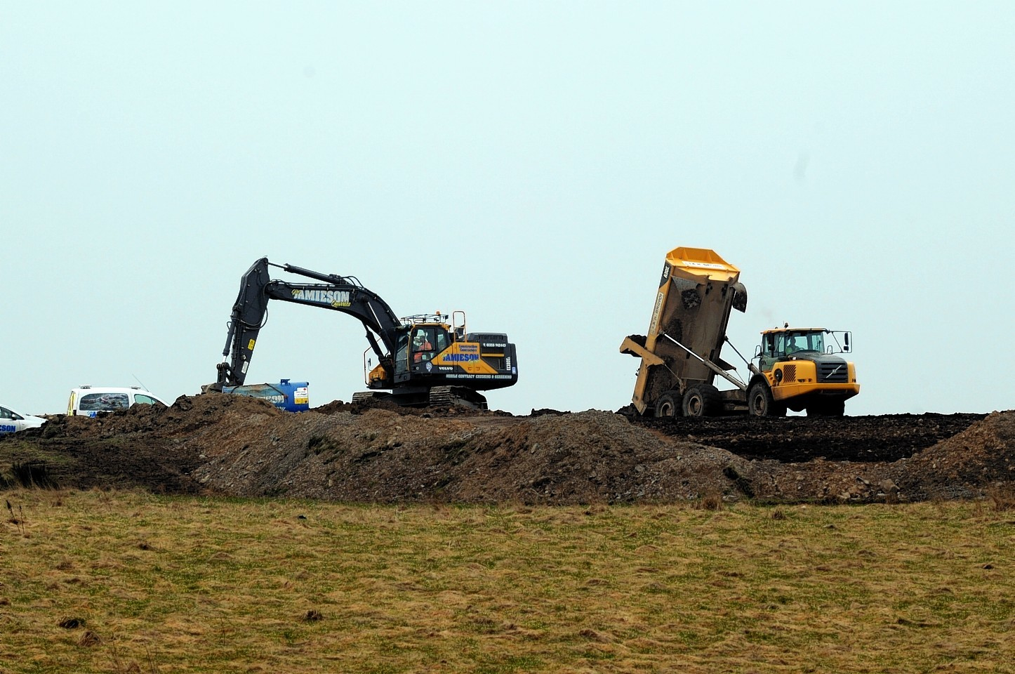 Aberdeenshire Council have launched an investigation into work at runtland, Whitecairns