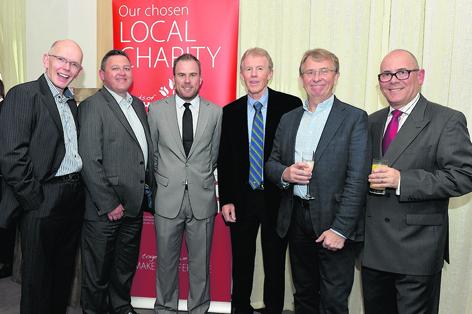 Iain Ross, Stuart White, Richie Ramsay, Douglas Craig, Graham Payton and Gordon Wallace at the Friends of ANCHOR annual Gala Golf Day