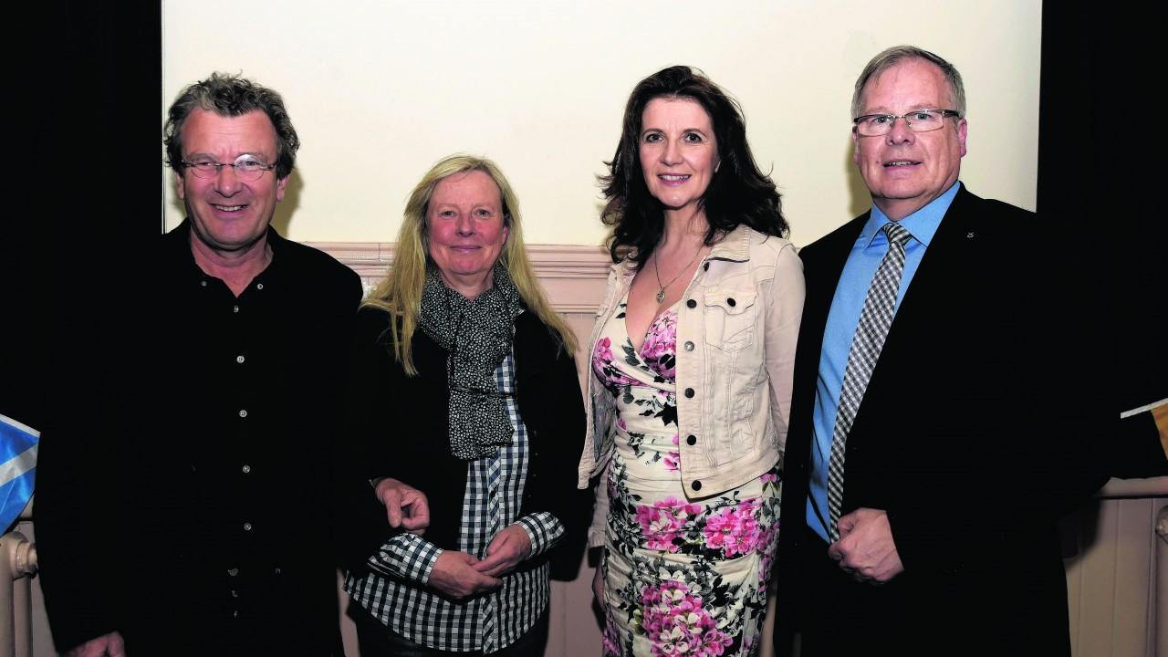 James Crombie, Kerstin Gren, Adelaine Cox and John Cox