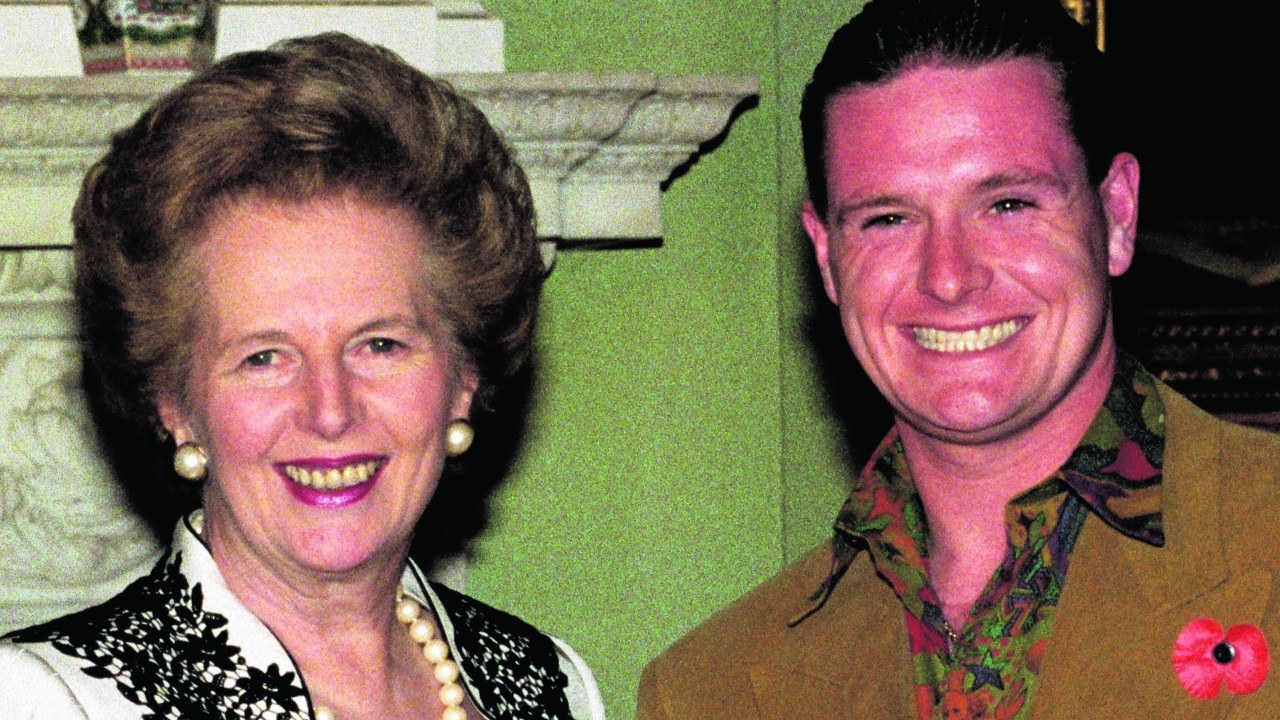 In 1990 with Margaret Thatcher