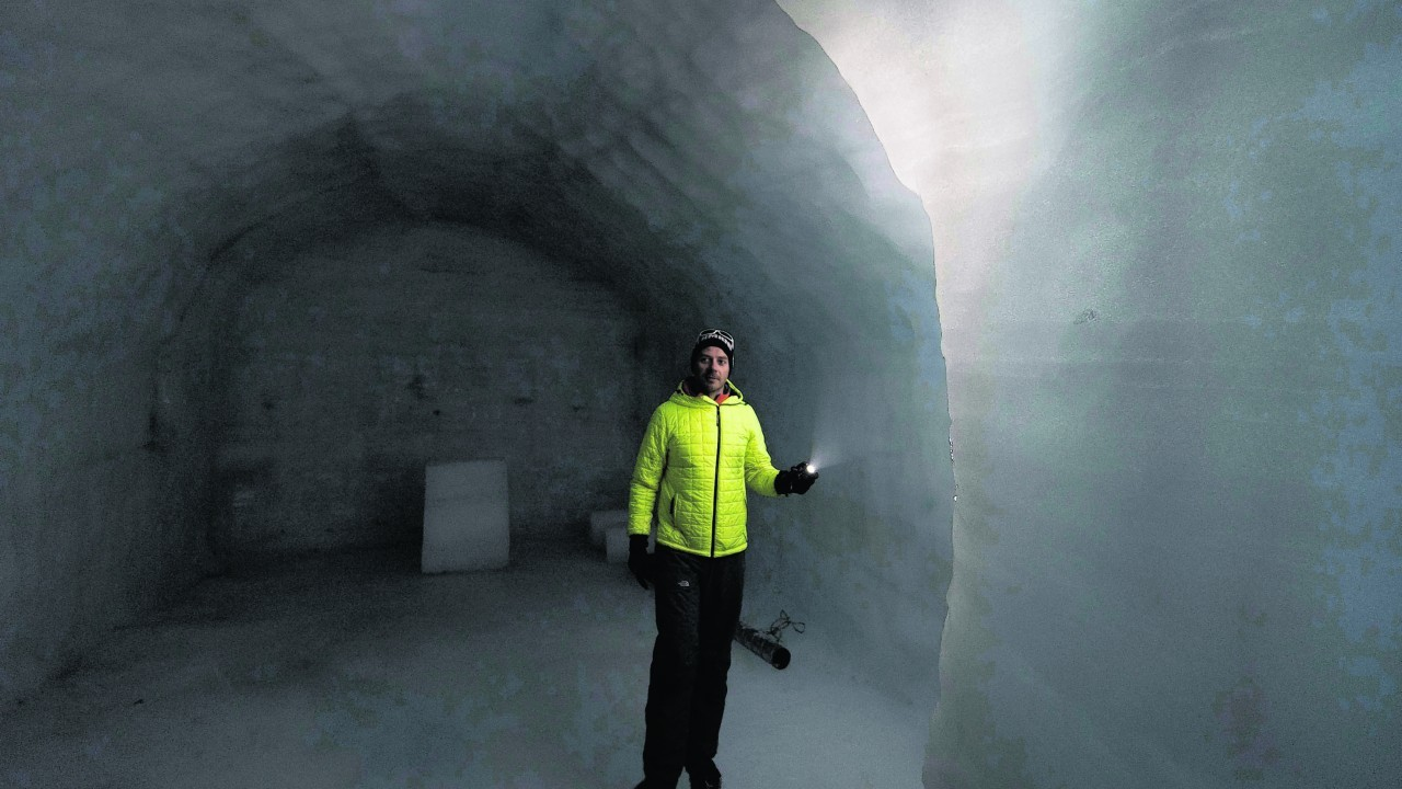 Project manager Siggi at Into The Glacier