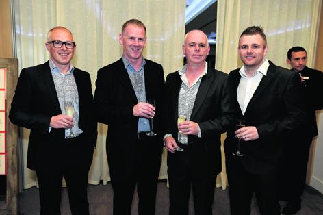 David Evans, Mike McAtier, Darren Hall and Duncan Greig