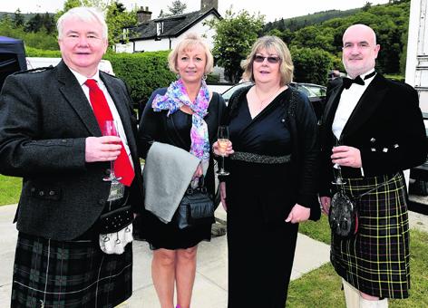Donald Robertson, Iris Clubb, Catriona Robertson and Chris MacMillan