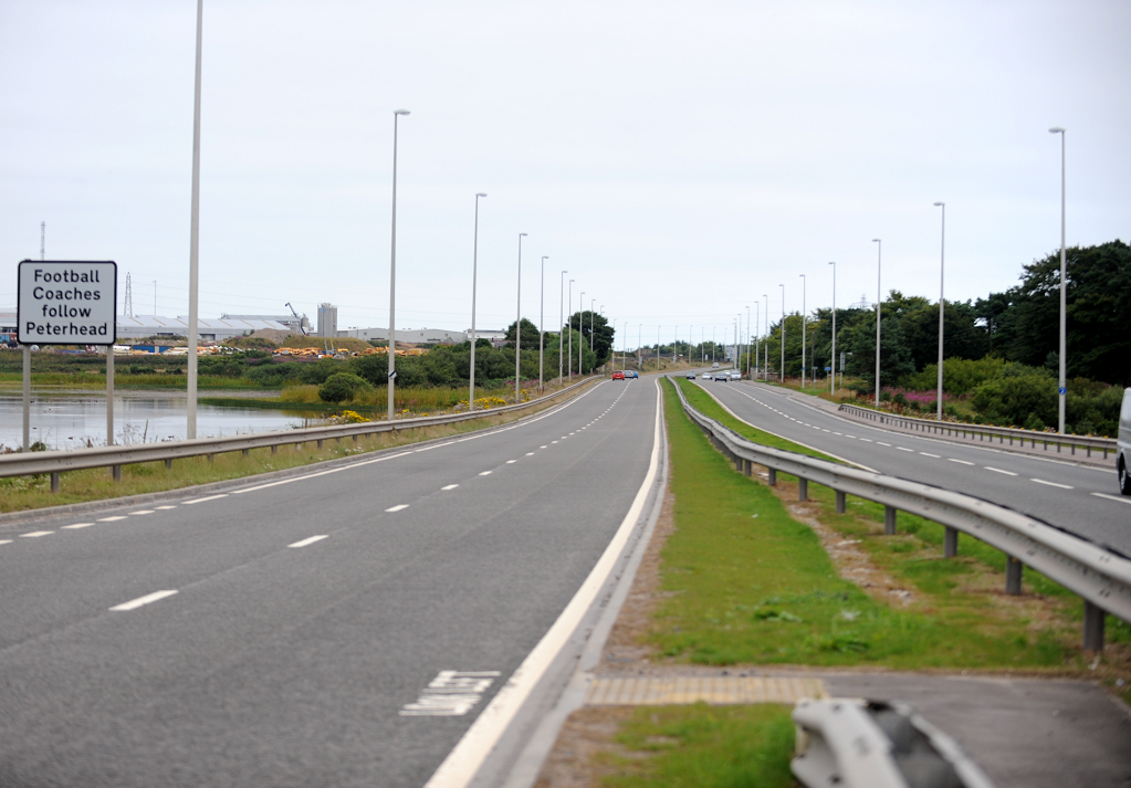 A90 Aberdeen to Dundee road