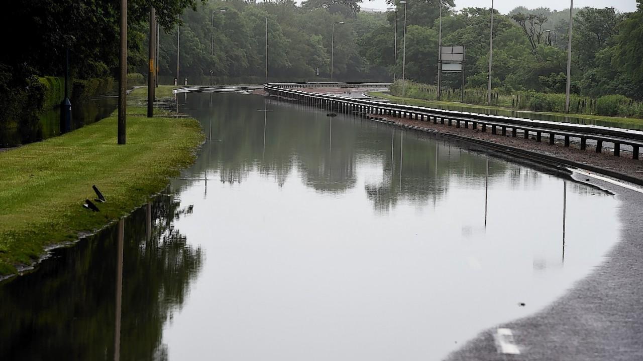 A90 closure due to flooding