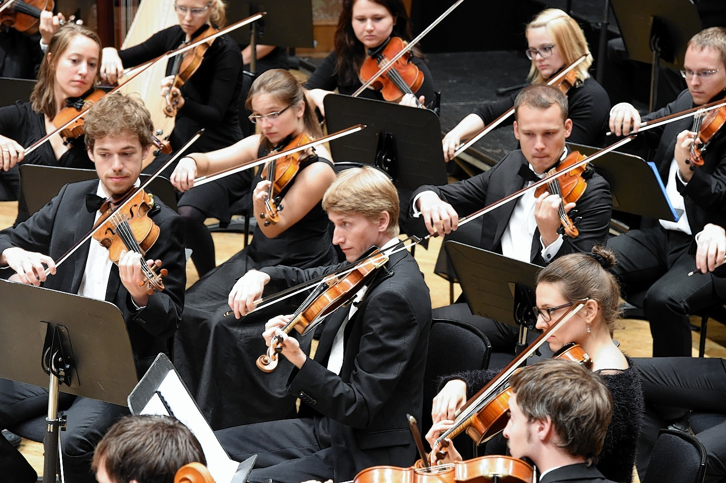 The Aberdeen International Youth Festival opening ceremony at Music Hall, Aberdeen. In the picture is the Zurich Academic orchestra.