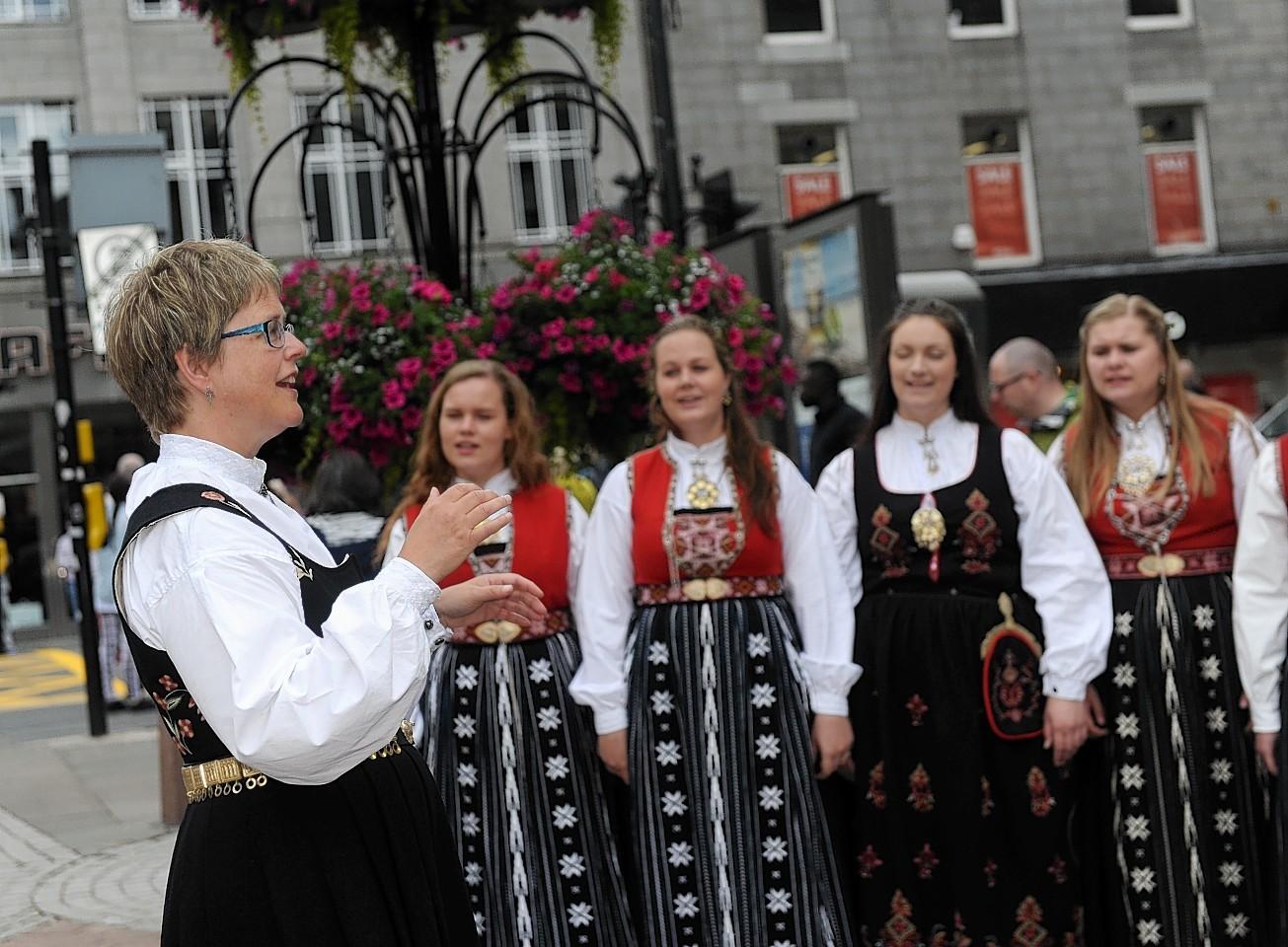 Aberdeen International Youth Festival. Norwegian Choir 'Stord Ungdomskor' performing.