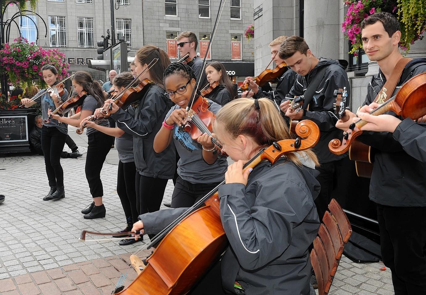 Aberdeen International Youth Festival. 'Coastline' from Canada performing.