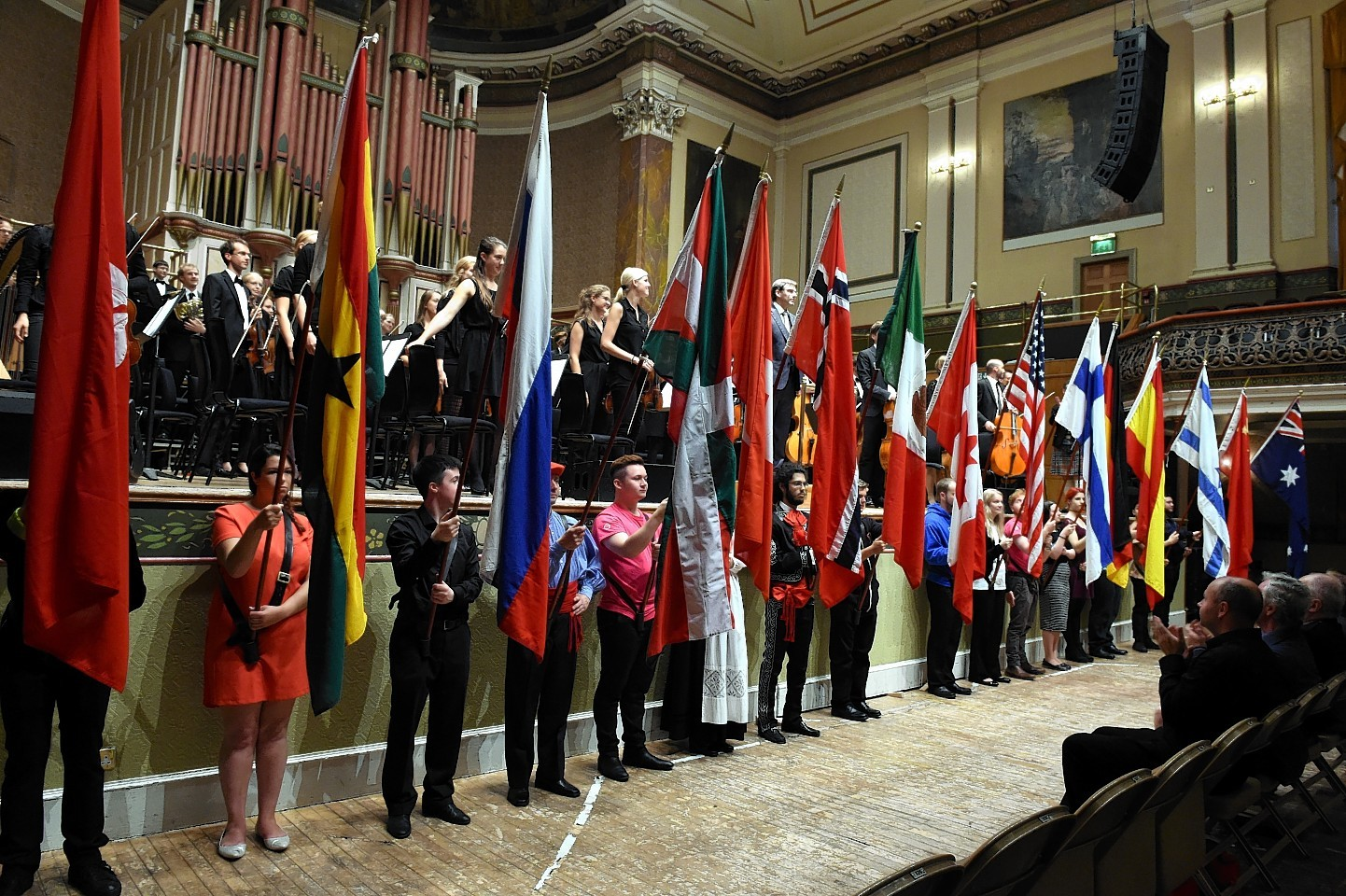 The Aberdeen International Youth Festival opening ceremony at Music Hall, Aberdeen.