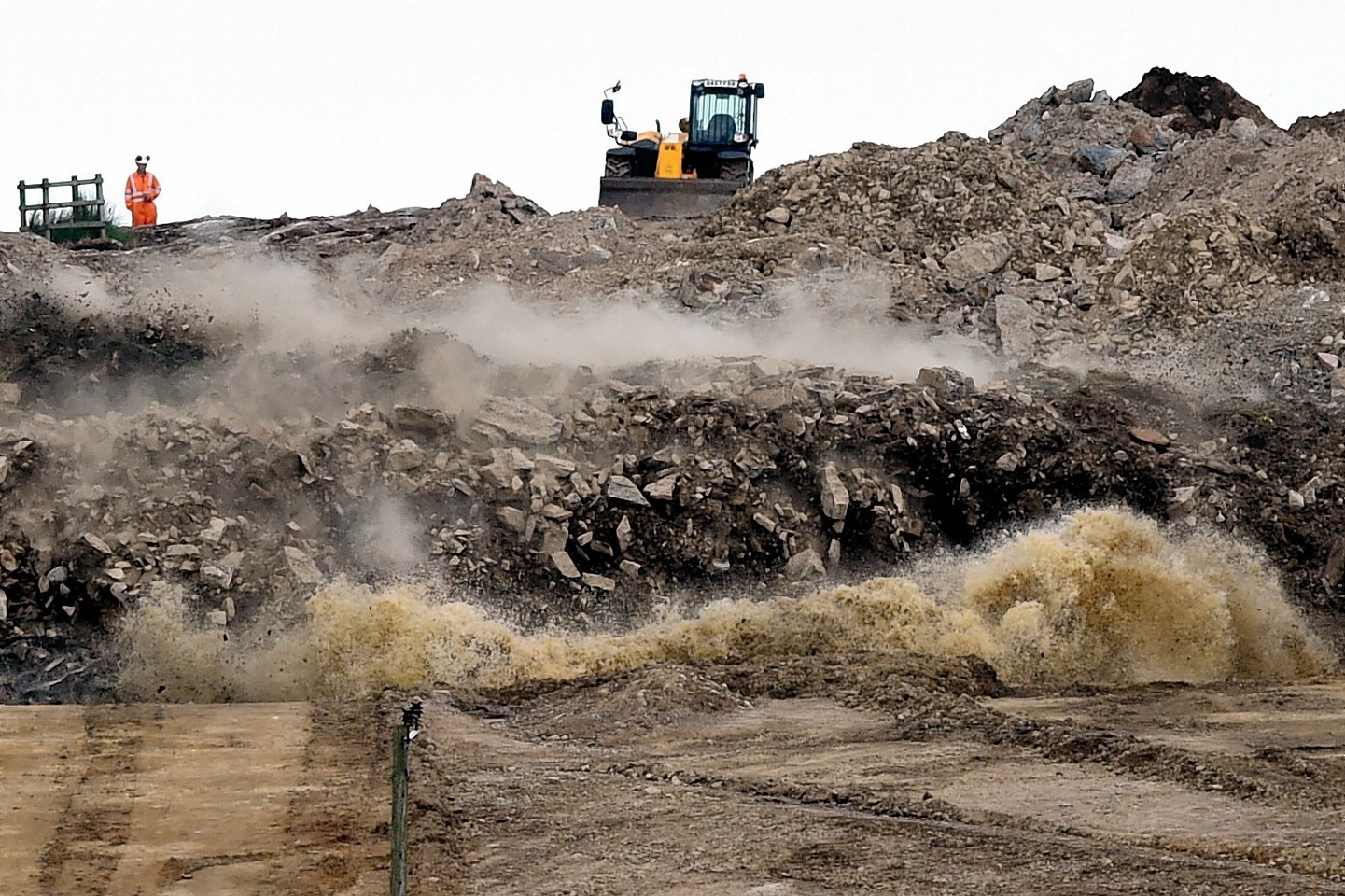 Blasting work has started at one of the AWPR sites