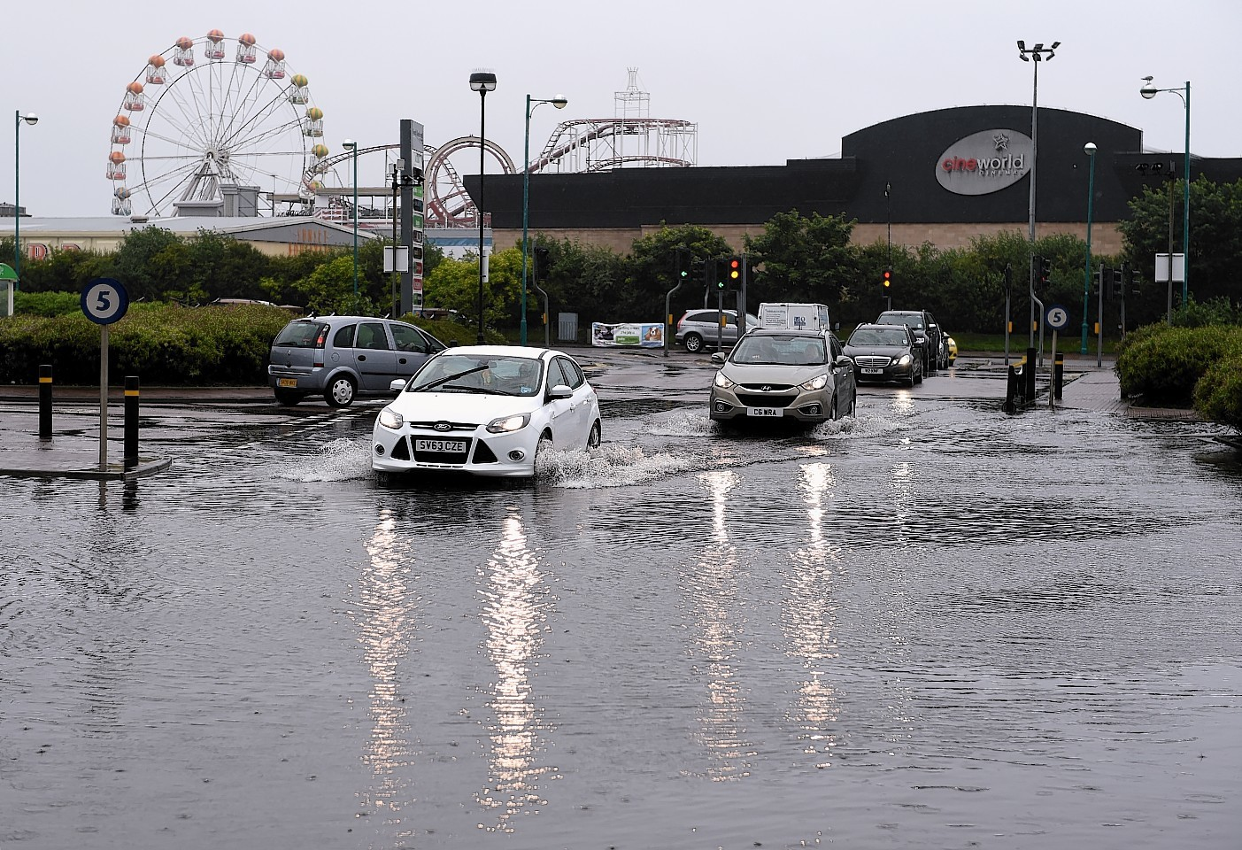 Part of the car park at the Boulevard Shopping centre at Aberdeen Beach last month