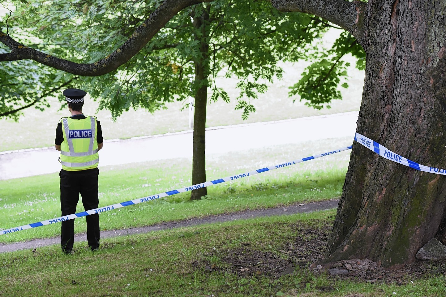 Scene of the attack in Aberdeen city centre