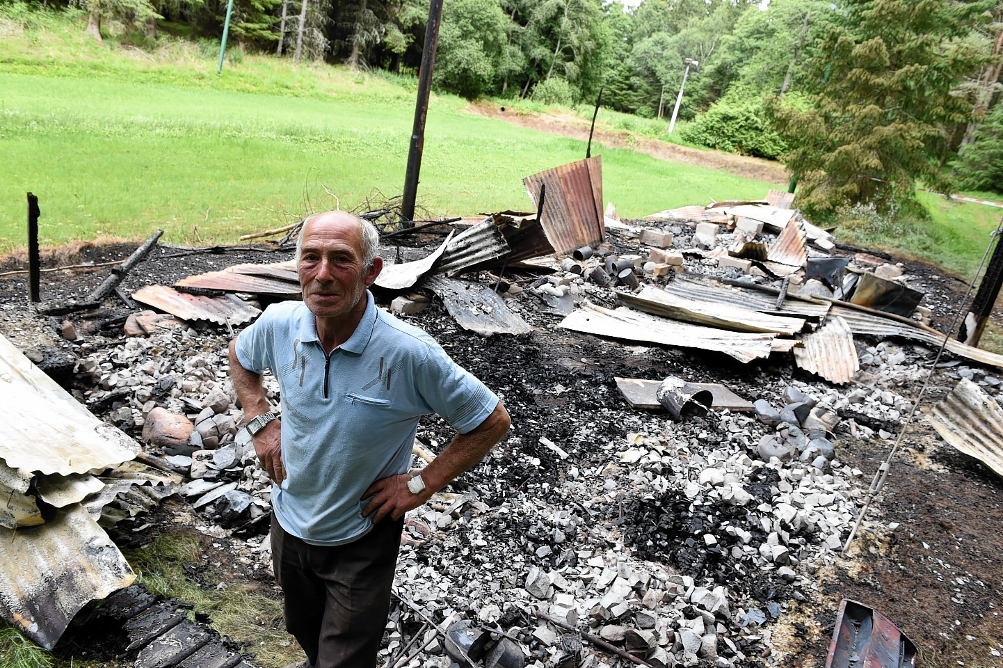 A fire on Saturday night destroyed the Vale of Alford Curling Club