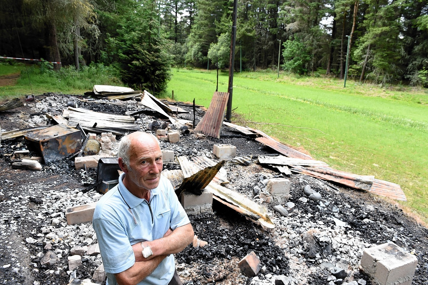 Vale of Alford Curling Club's base in Murray Park was destroyed by fire