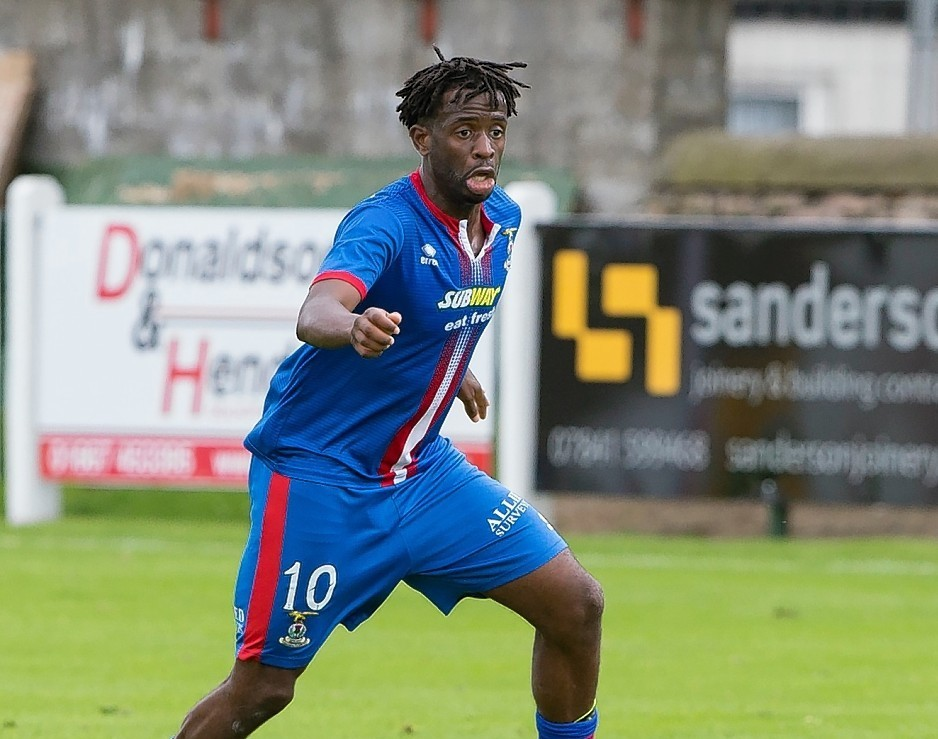 Andrea Mbuyi-Mutombo came off the bench to equalise for Caley Thistle.