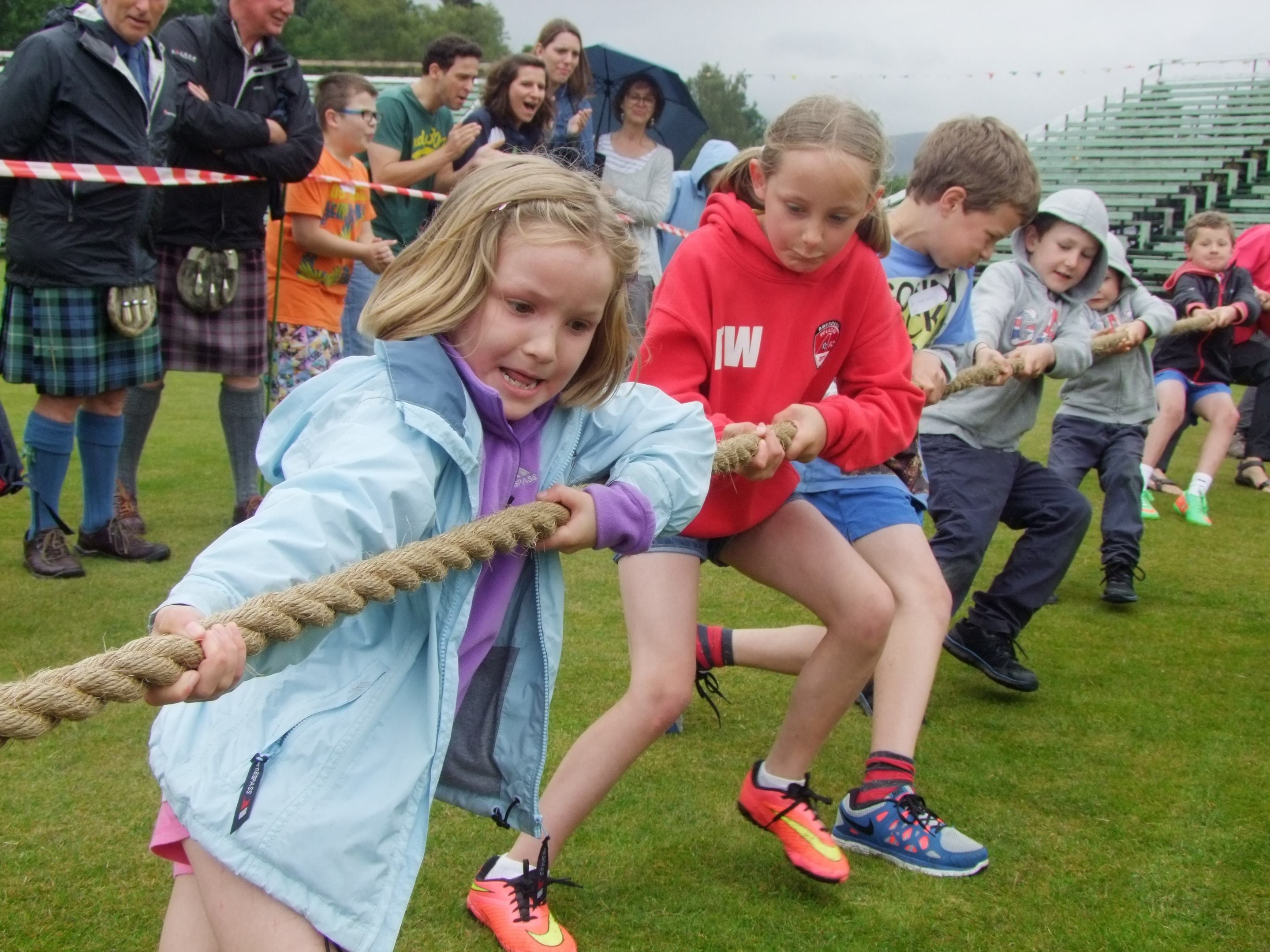 The tug of war at last year's Braemar Junior Highland Games