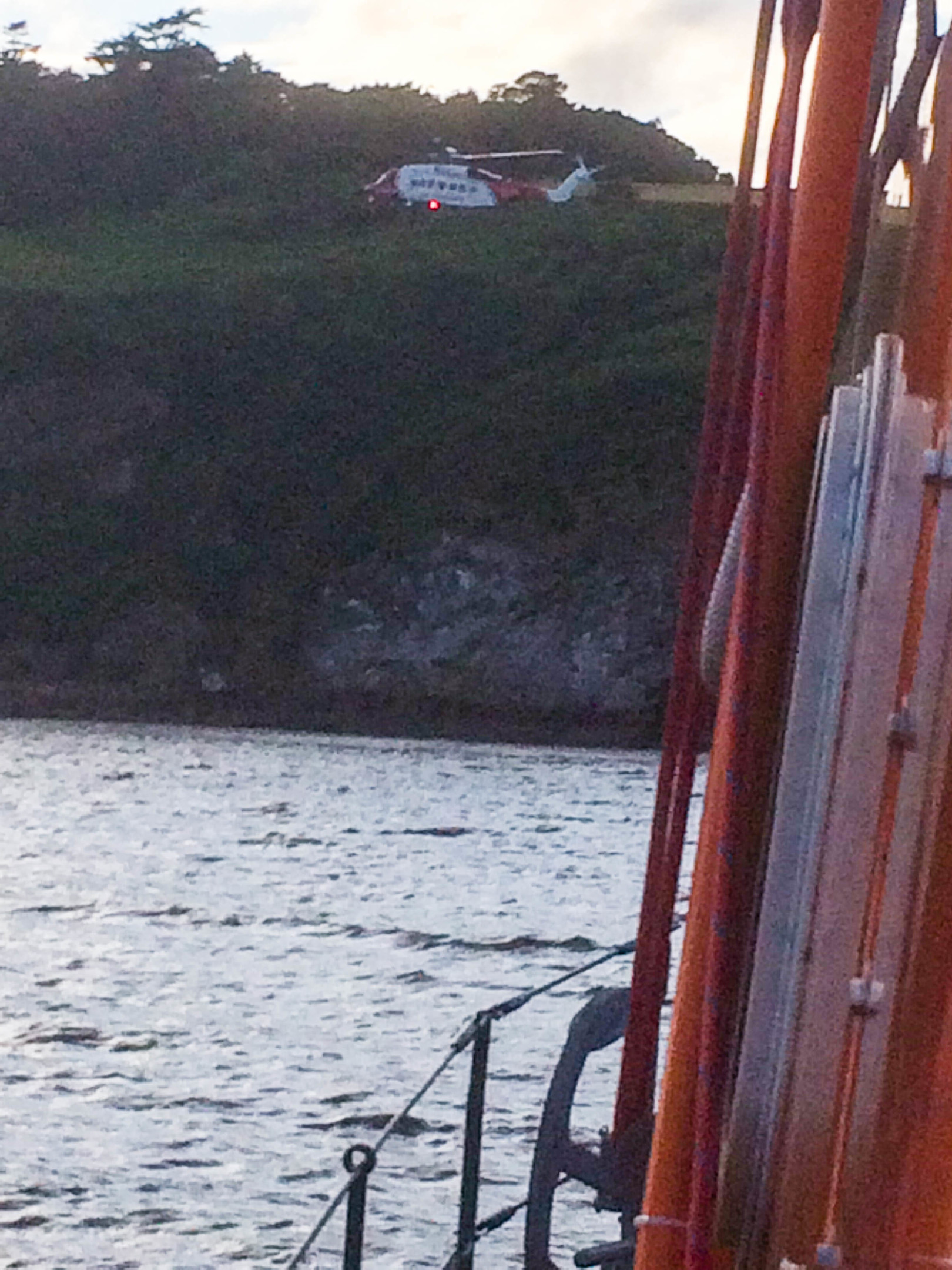 Rescue 951 and Invergordon lifeboat worked together to rescue the teens