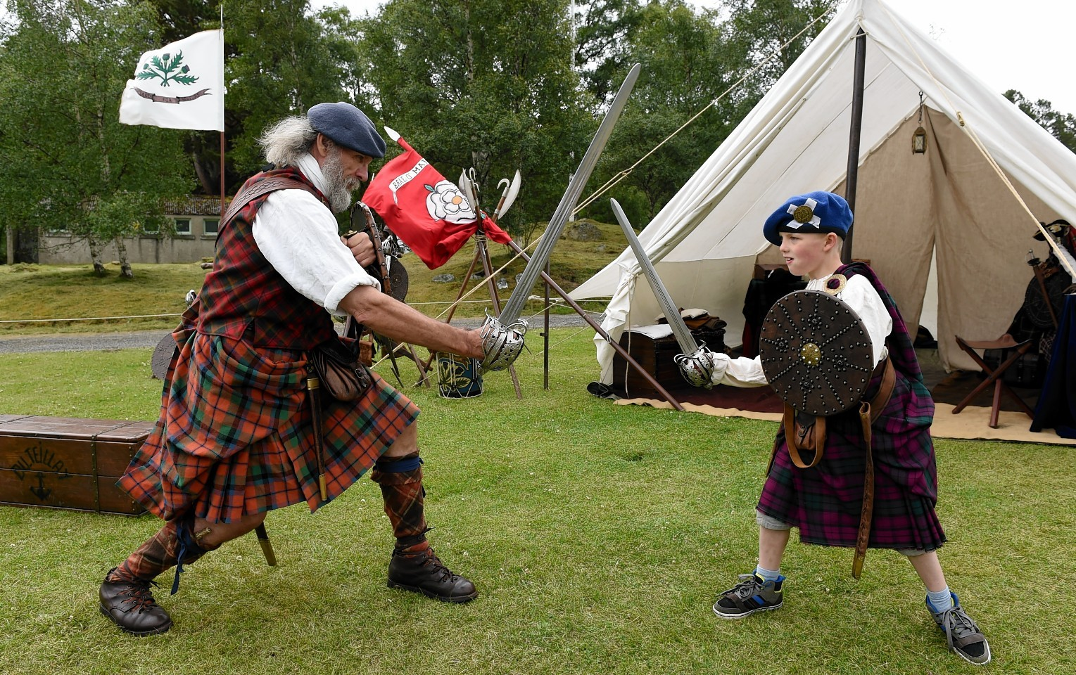 Family Fun Day at the Princess Royal and Duke of Fife Memorial Park Braemar.