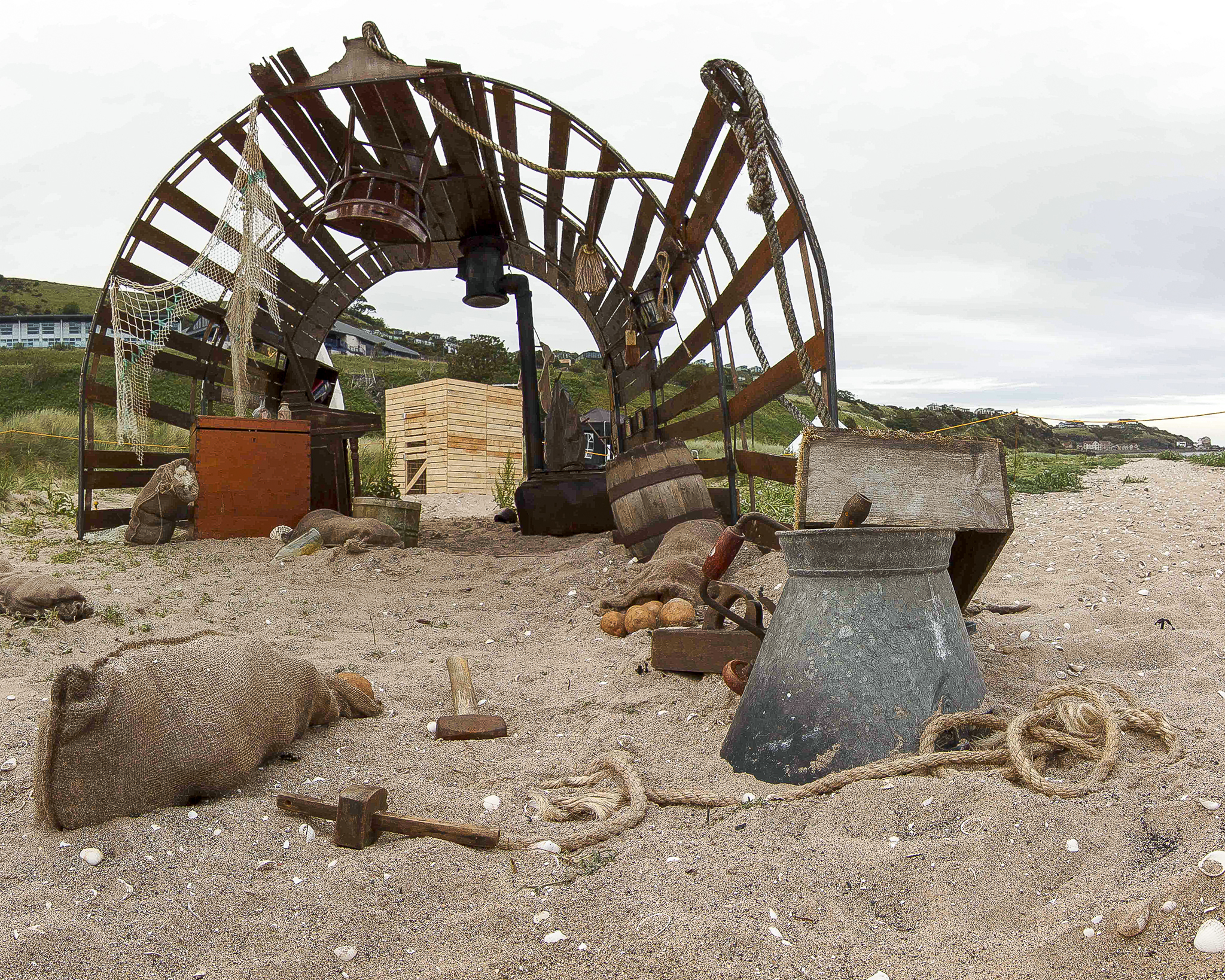 Art installation about the amazing story of Betty  Mouat, Drift. is coming to St Cyrus nature reserve next week. Credit: Daniel Lacasta Fitzsimmons.