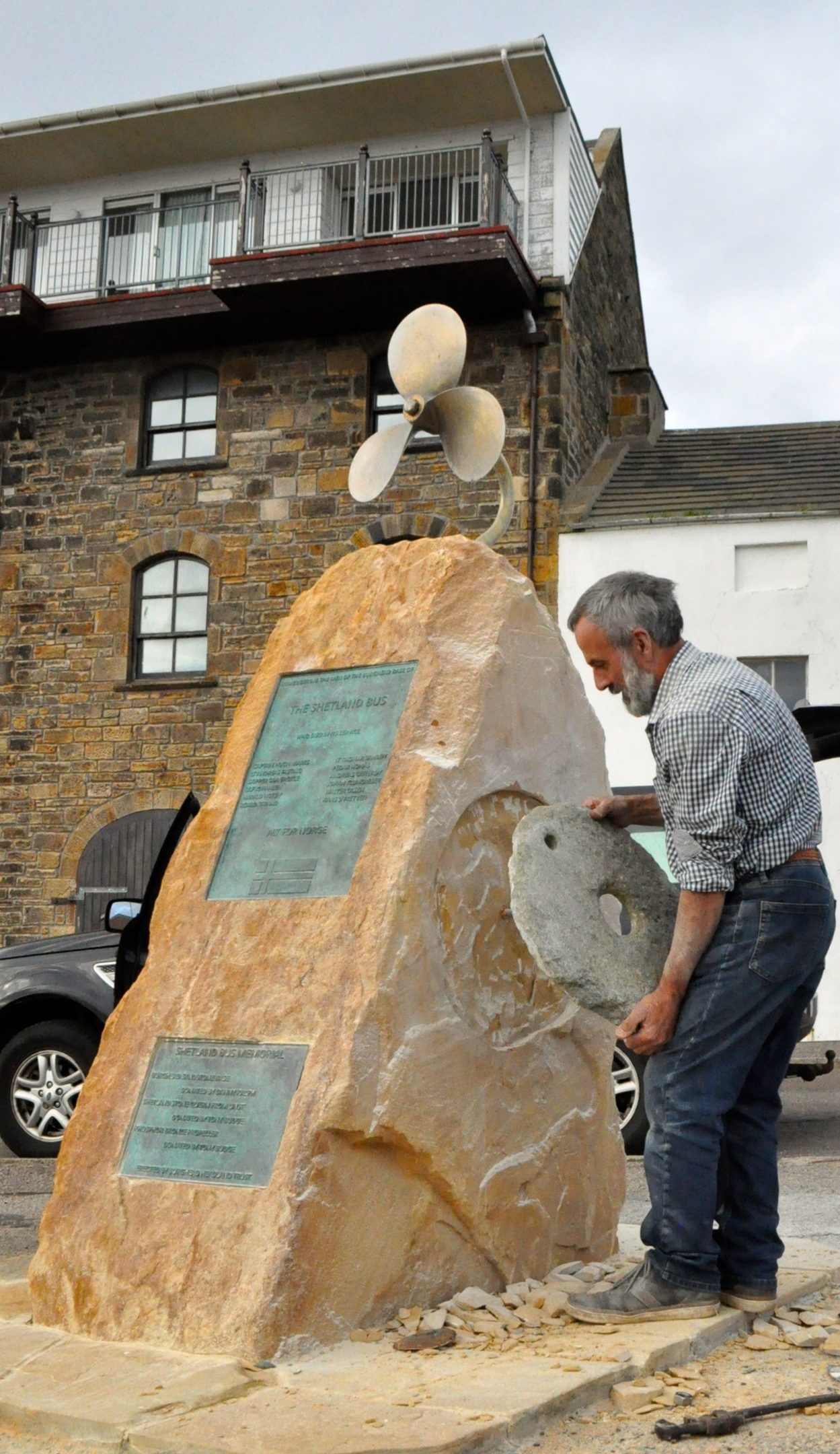 Final touches added to Burghead memorial