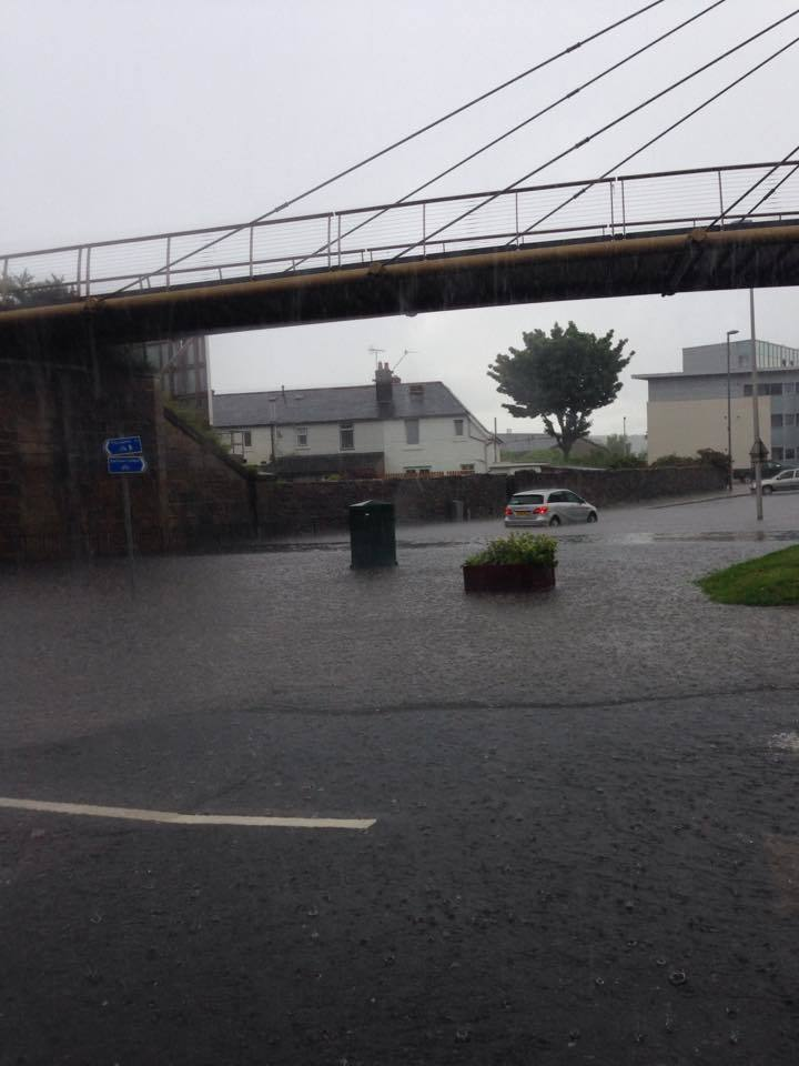 Holburn Street is just one of many Aberdeen streets to be hit by flash flooding this afternoon