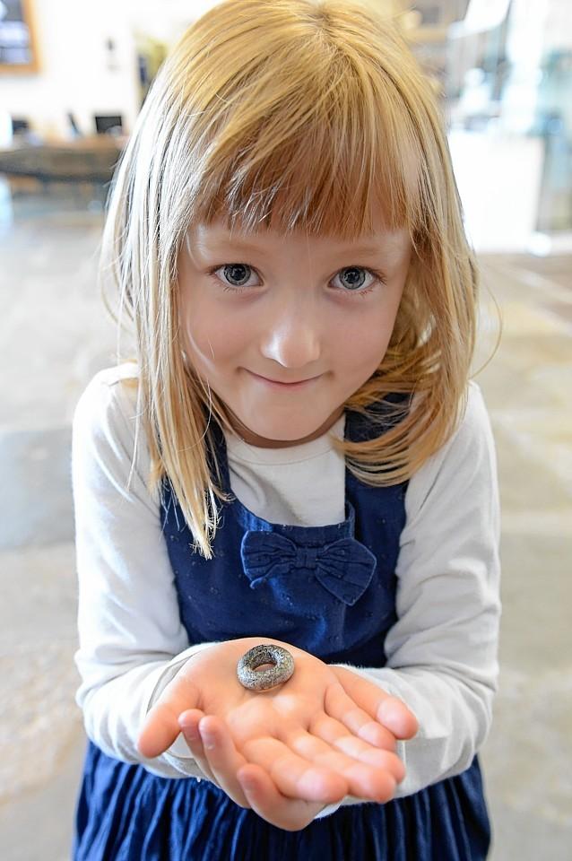 Eilith Gunn with her treasure
