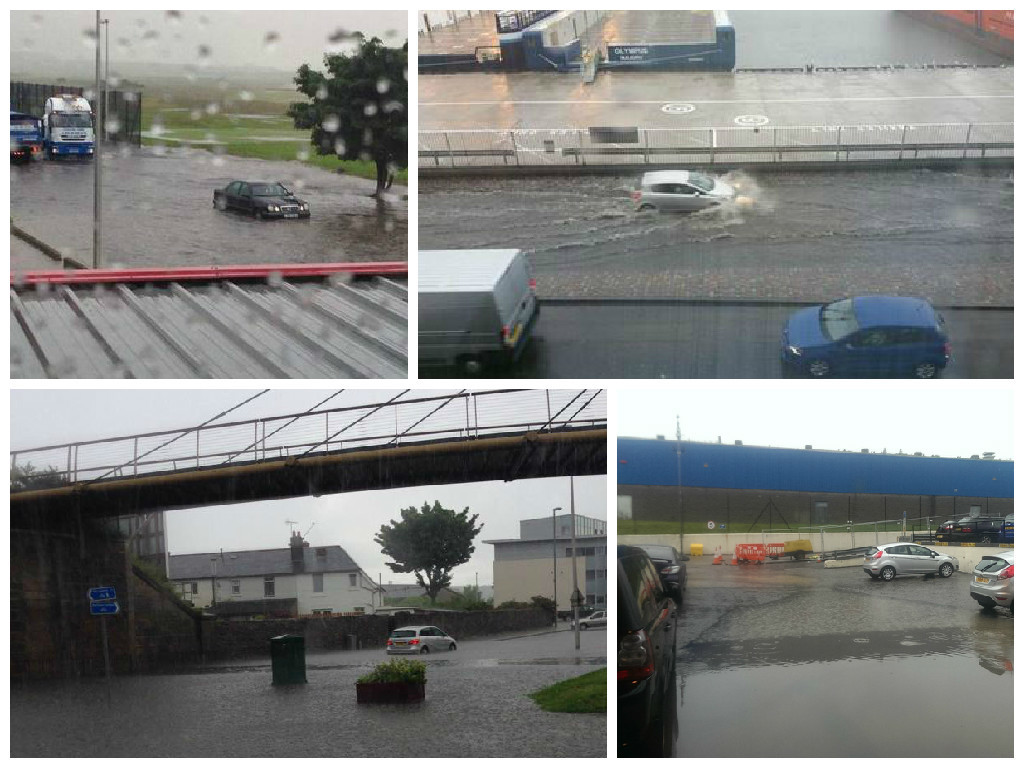 Aberdeen has been hit by flash flooding across the city