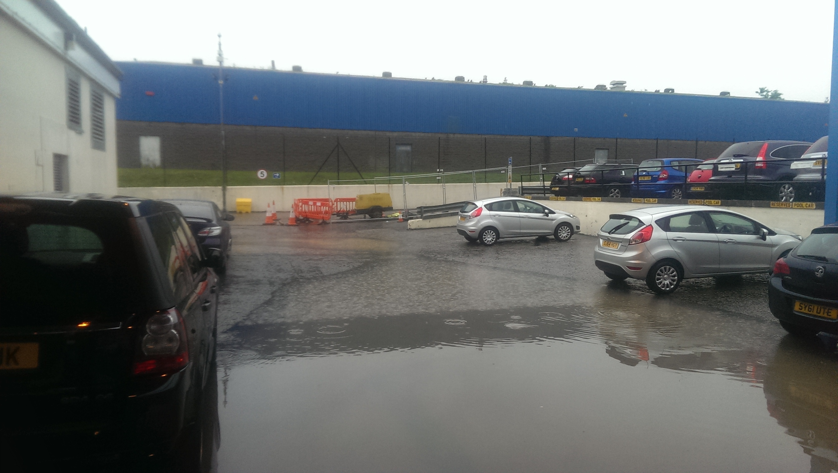 Press and Journal car park turning into a swimming pool