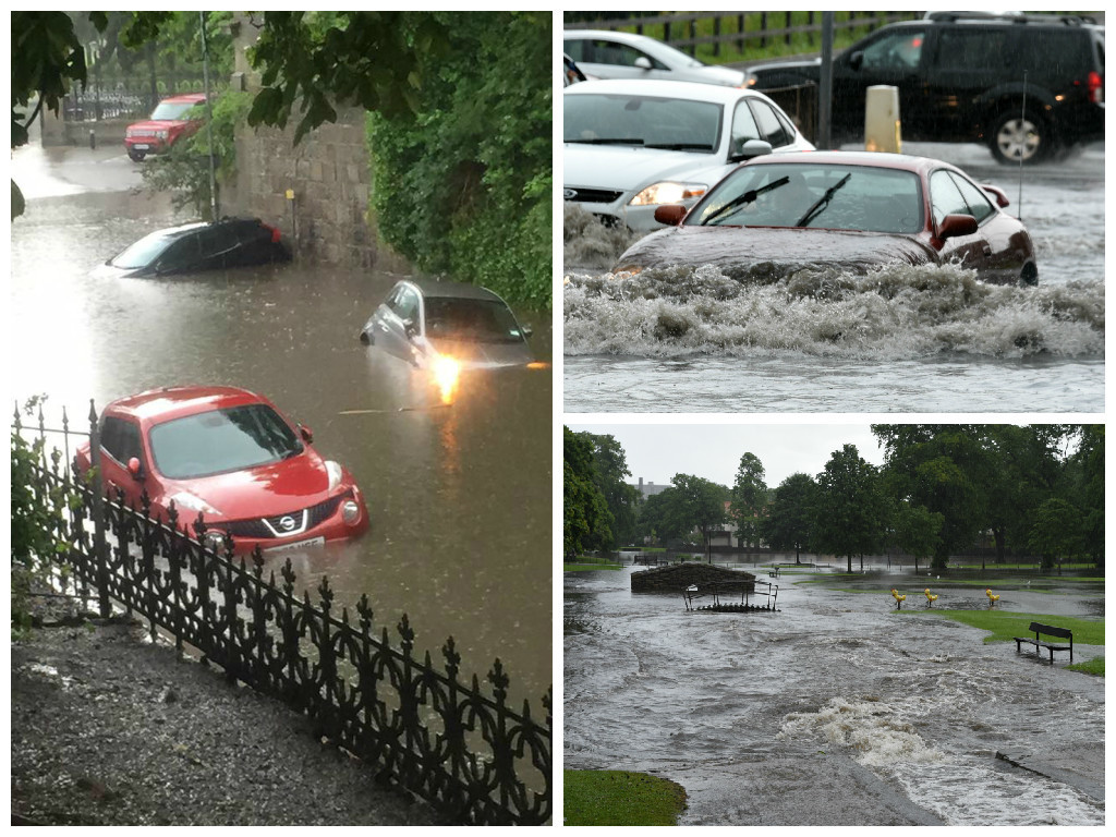 The city was battered by torrential rain this week