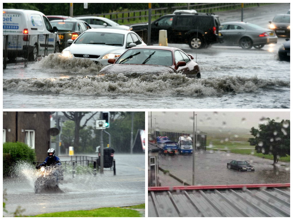 Roads across the city have flooded following the downpour