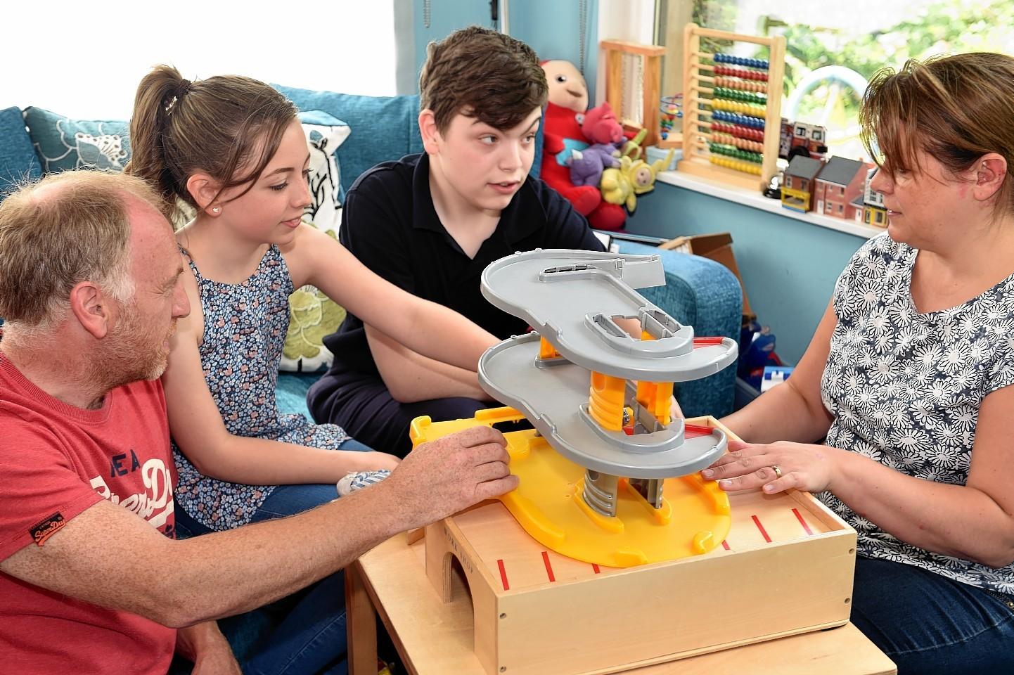 Glyn, Emily, Gregor, and Jennifer Morris. Picture by Gordon Lennox