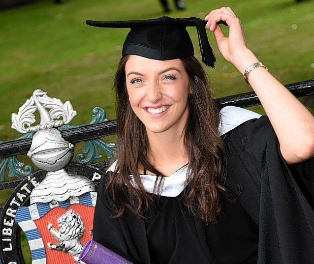 RGU Graduations at HMT wednesday morning ;  Pictured - Kerry Williamson of Tore.      Picture by Kami Thomson    16-07-15