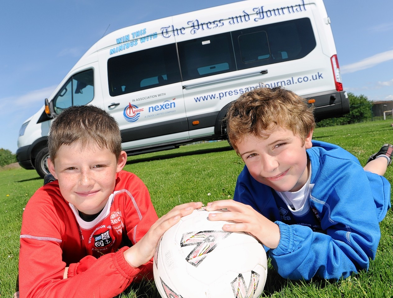 Young Invergordon players Reece Hunter and Ethan Coghill
