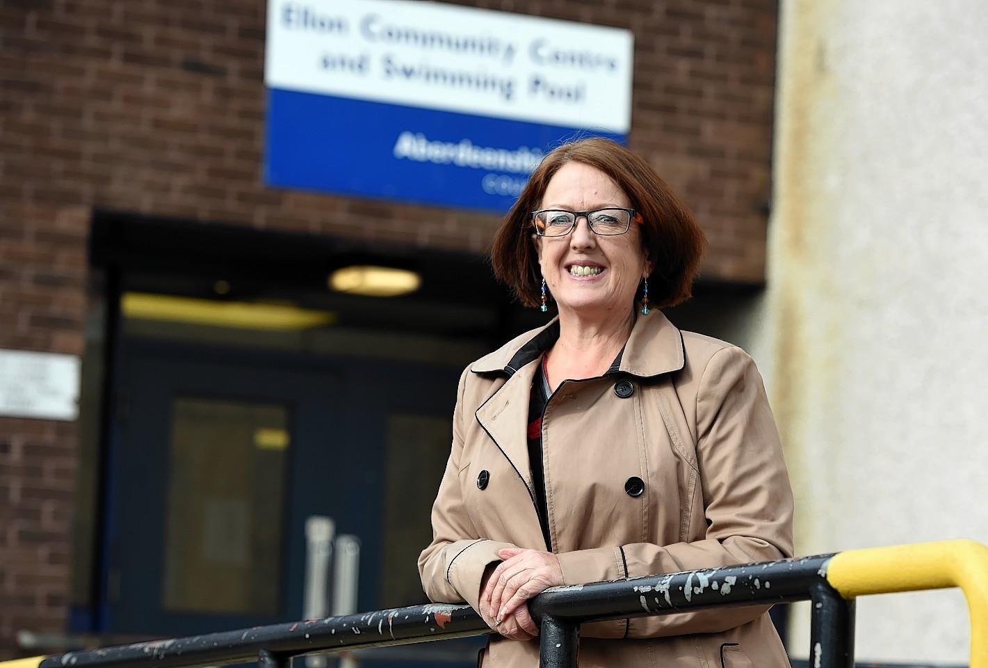 Isobel Davidson at the former Ellon Academy