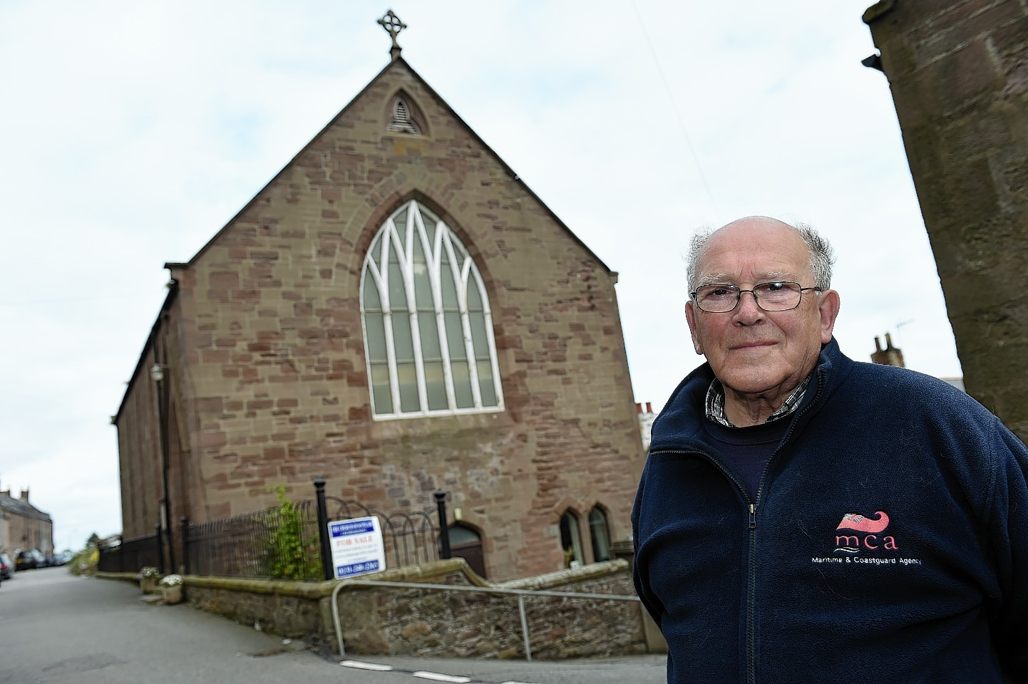 Don Marr of the local heritage society outside Johnshaven Church