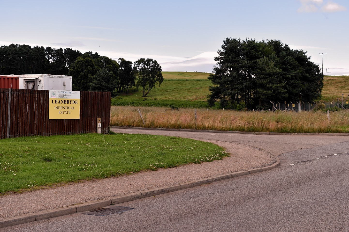 The field earmarked for housing by Moray Council. Picture by Gordon Lennox