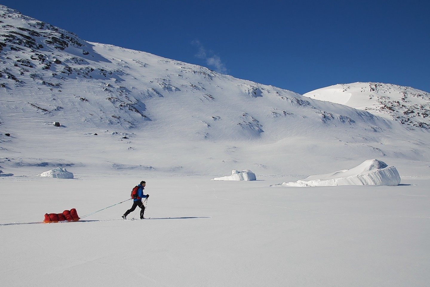 The 30-year-old training in Eastern Greenland earlier this year