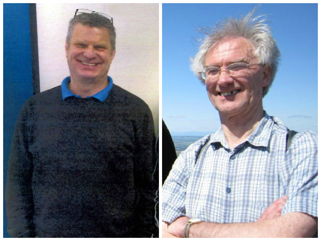 Eric Cyl, left, and Tom Brown, right
