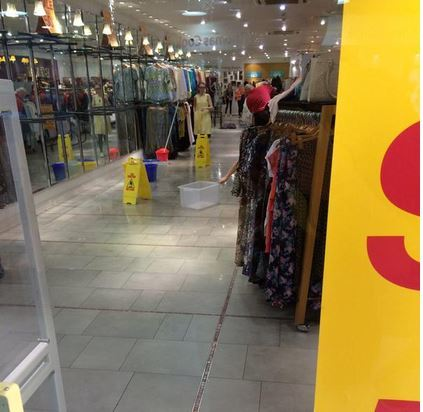 The Monsoon shop floor is, like much of the rest of the city, under water.