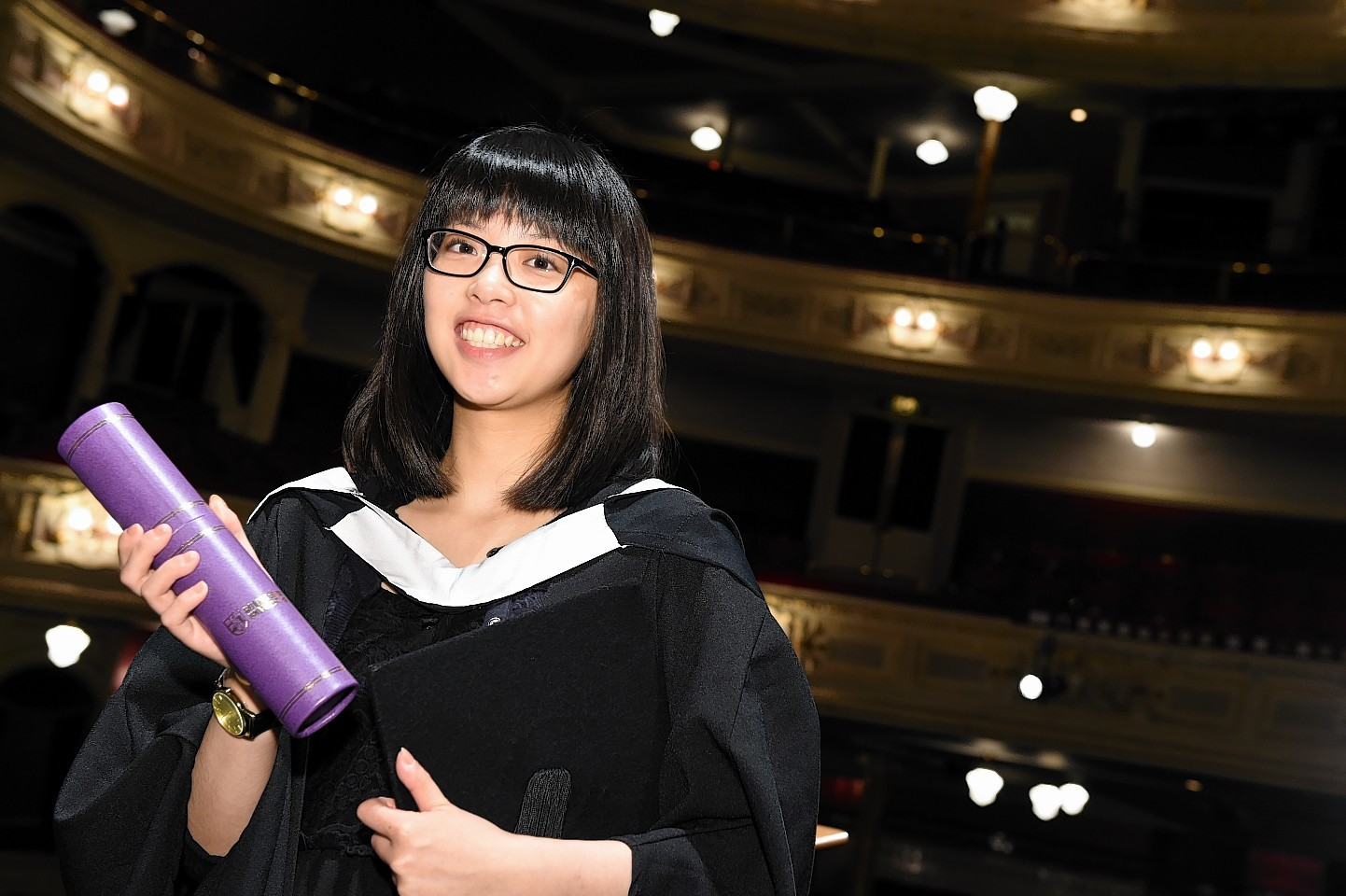 RGU Graduations at HMT friday morning ;  Pictured - Rebecca Chan of Elgin.      Picture by Kami Thomson    17-07-15