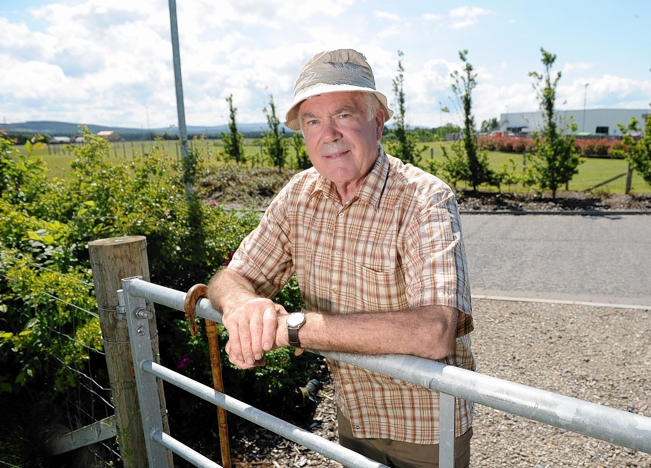 Nairn Suburban Community Council chairman Dick Youngson at the site of proposed expansion at Balmakeith.