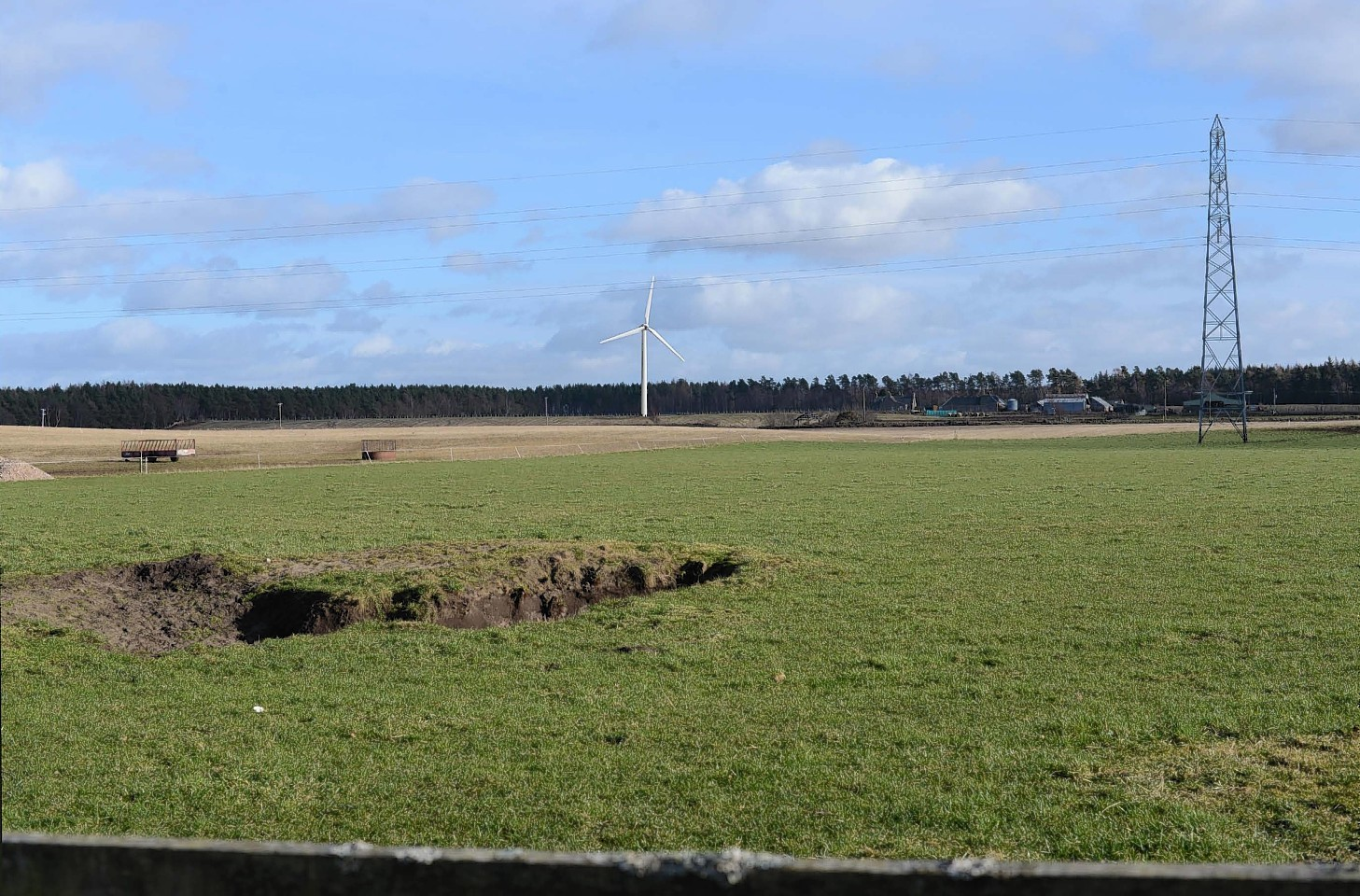 A visualisation of how the single turbine might appear on the landscape.