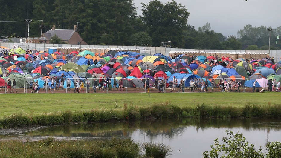 Police are investigating an alleged assault in the festival campsite