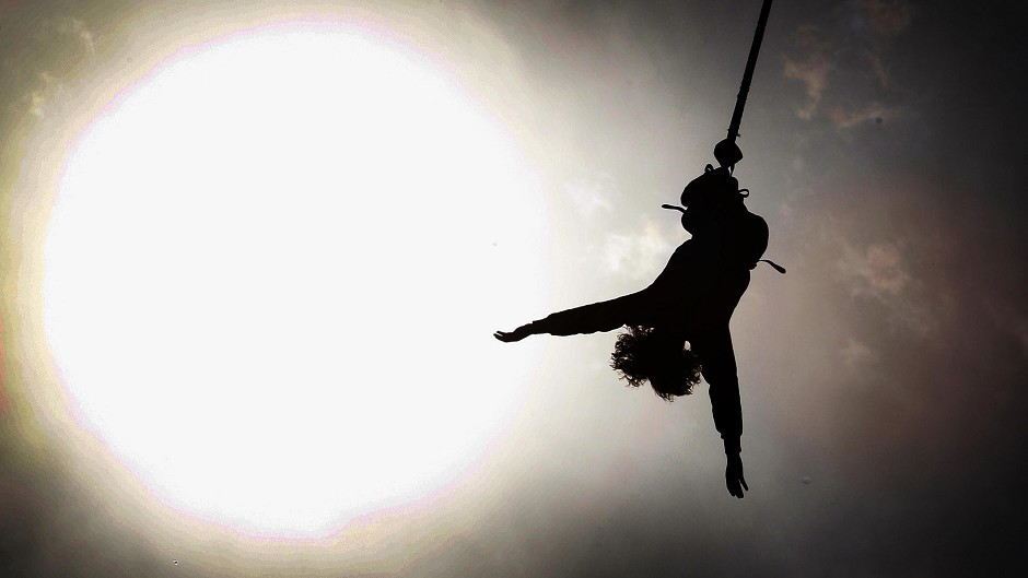 A bungee jumper