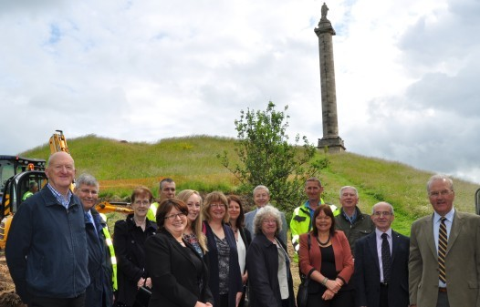 Organisers gathered at Ladyhill to mark the launch of the new route